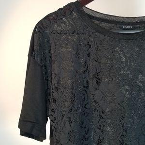 Lindex Floral Top Blouse   Black   Simple